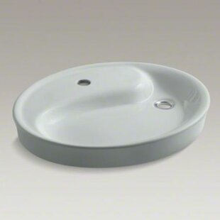 Kohler Yin Yang Wading Pool Drop-In Bathroom Sink with Single Faucet Hole
