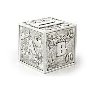 Silver Plate Alphabet Piggy Bank