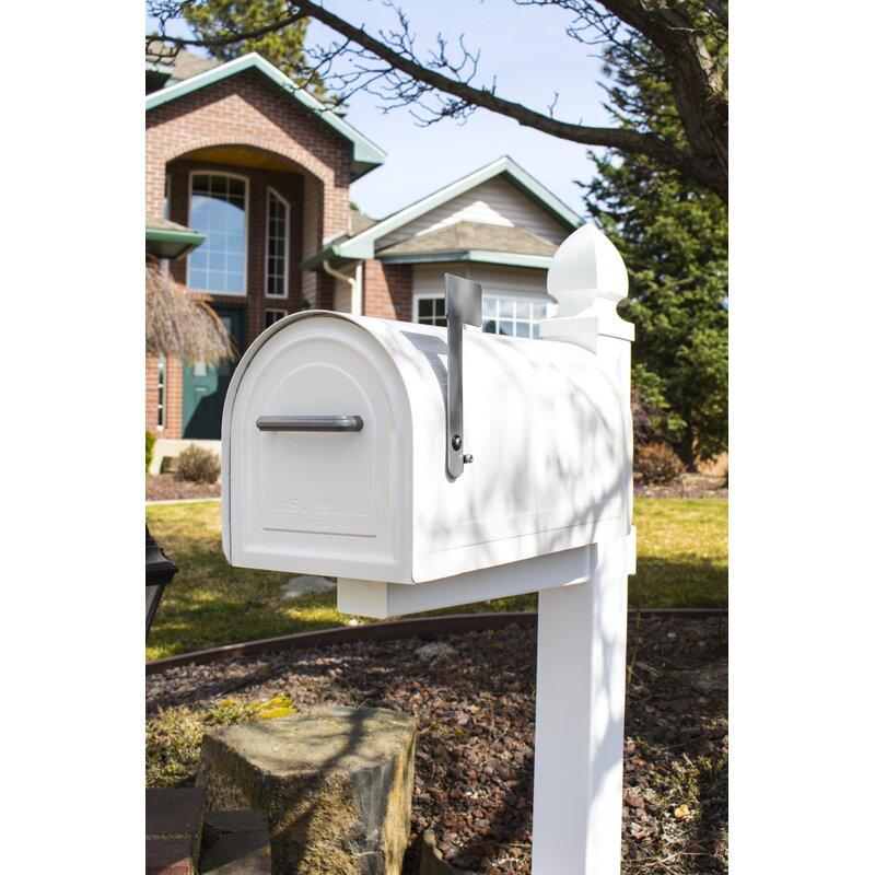 Gibraltar Mailboxes Reliant Large Locking Post Mount Mailbox Black Reviews Wayfair