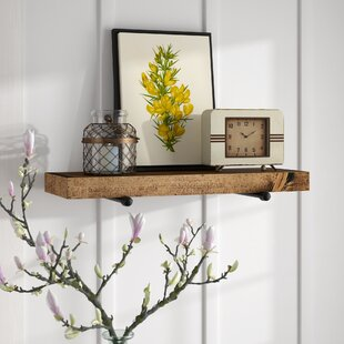 Whitestone Rustic Industrial Wall Shelf