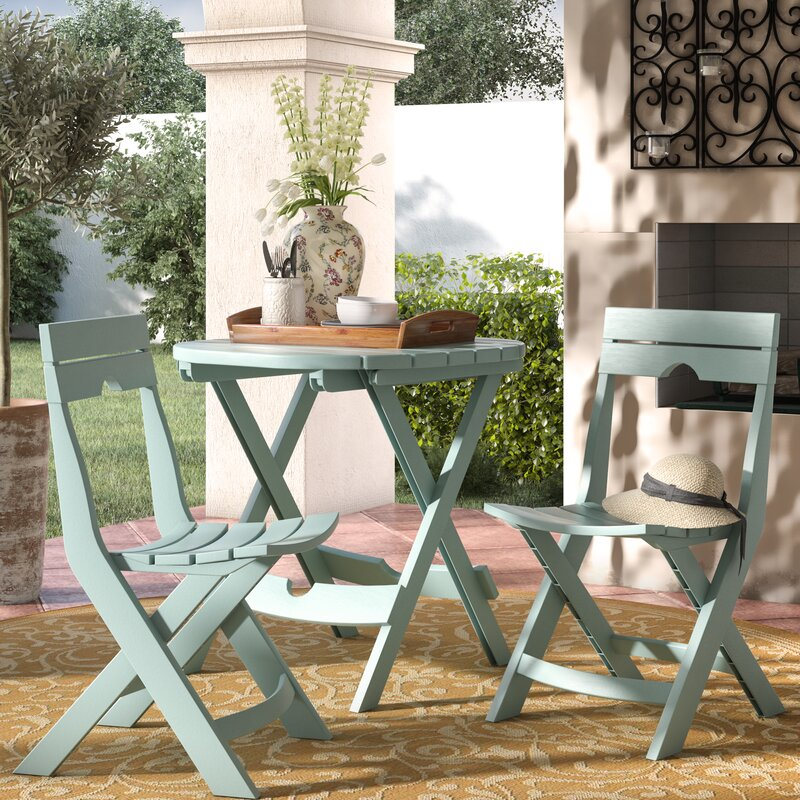andover mills quebec 3 piece bistro set reviews wayfair