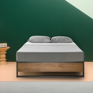 Ozella Metal and Wood Platform Bed