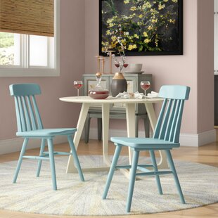 Lorine Armless Solid Wood Dining Chair (Set of 2)
