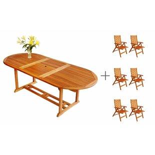 Three Posts Cadsden 7 Piece Extendable Dining Set