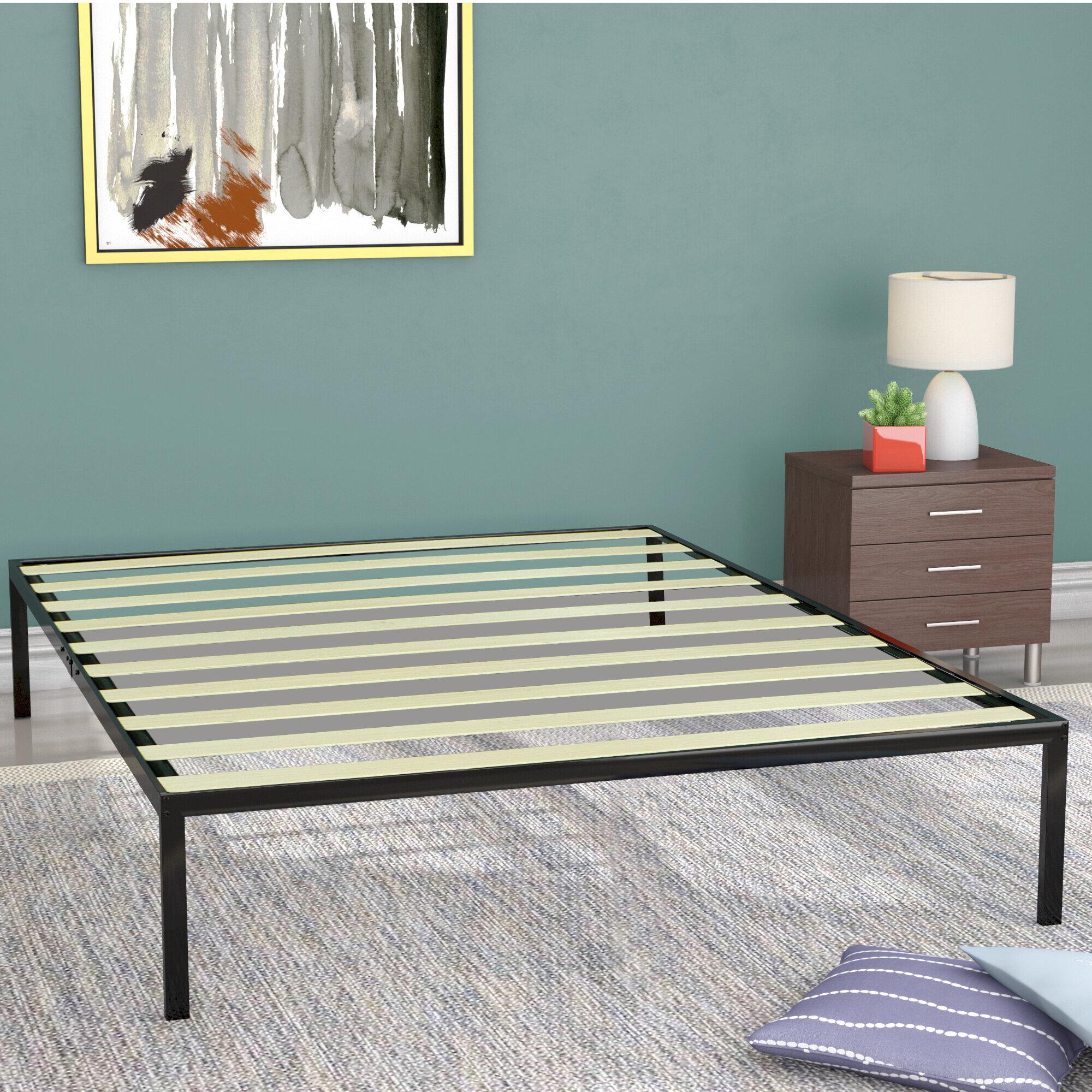 "Alwyn Home Jeanette 14"" Steel Platform Bed & Reviews | Wayfair"