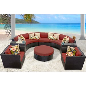 Barbados 8 Piece Sectional Seating Group with Cushion