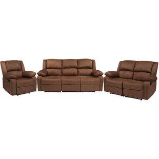 Winston Porter Chalfont 3 Piece Reclining Living Room Set