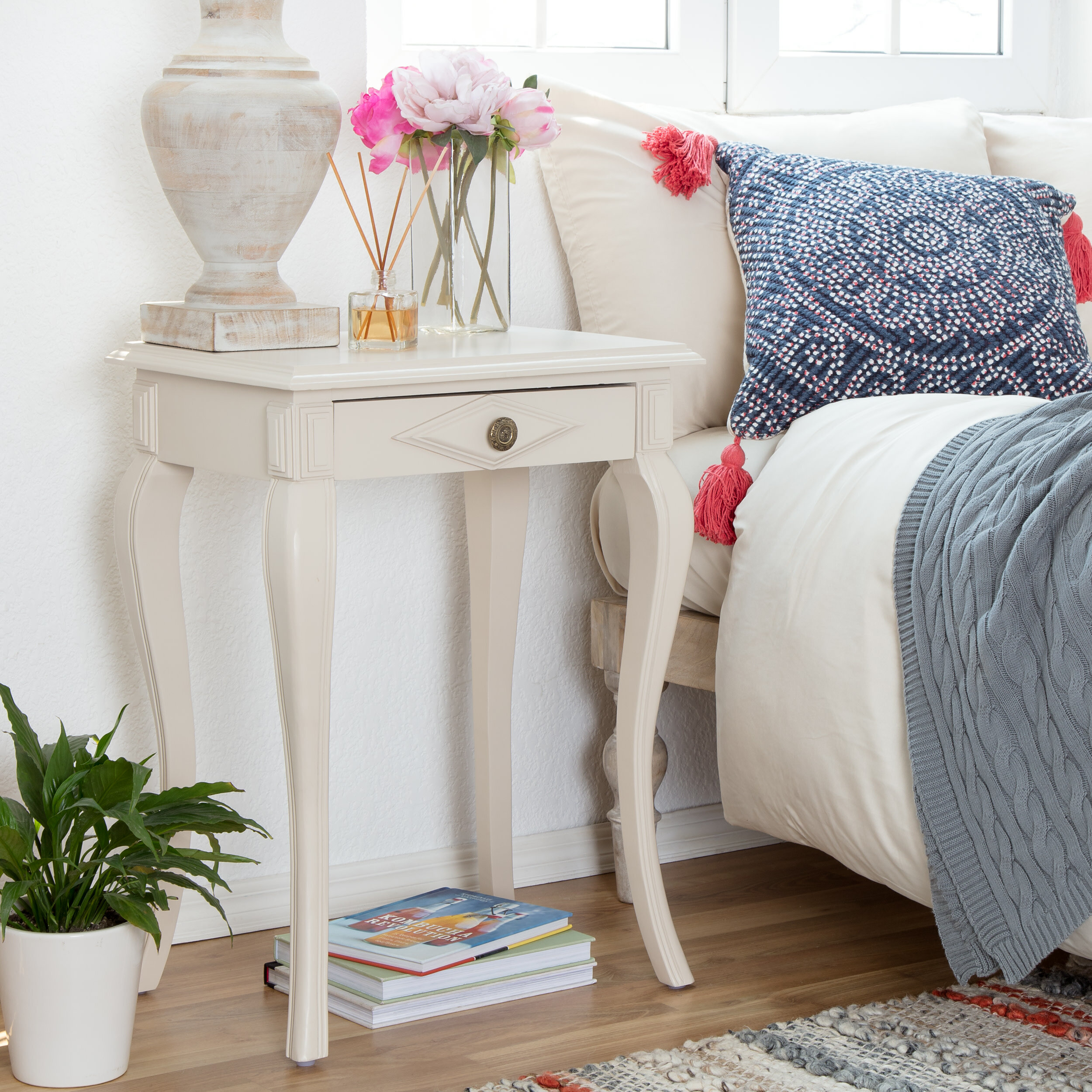 Alcott Hill Seapine End Table With Storage Wayfair