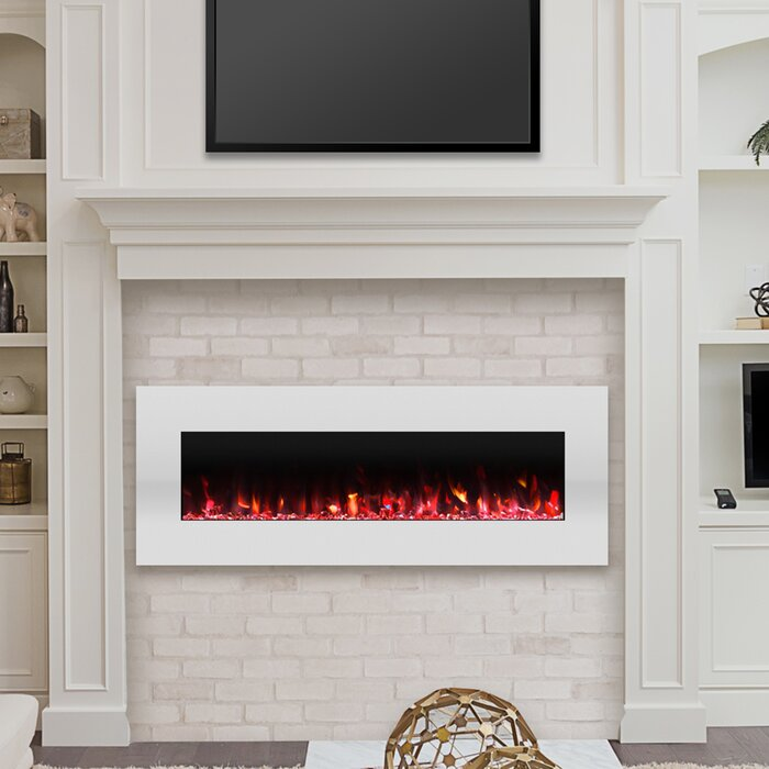 Lockport Pearl Wall Mounted Electric Fireplace