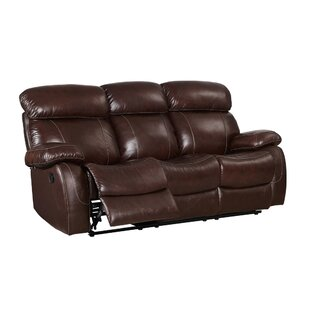 Shum Leather Power Reclining Sofa by Red Barrel Studio