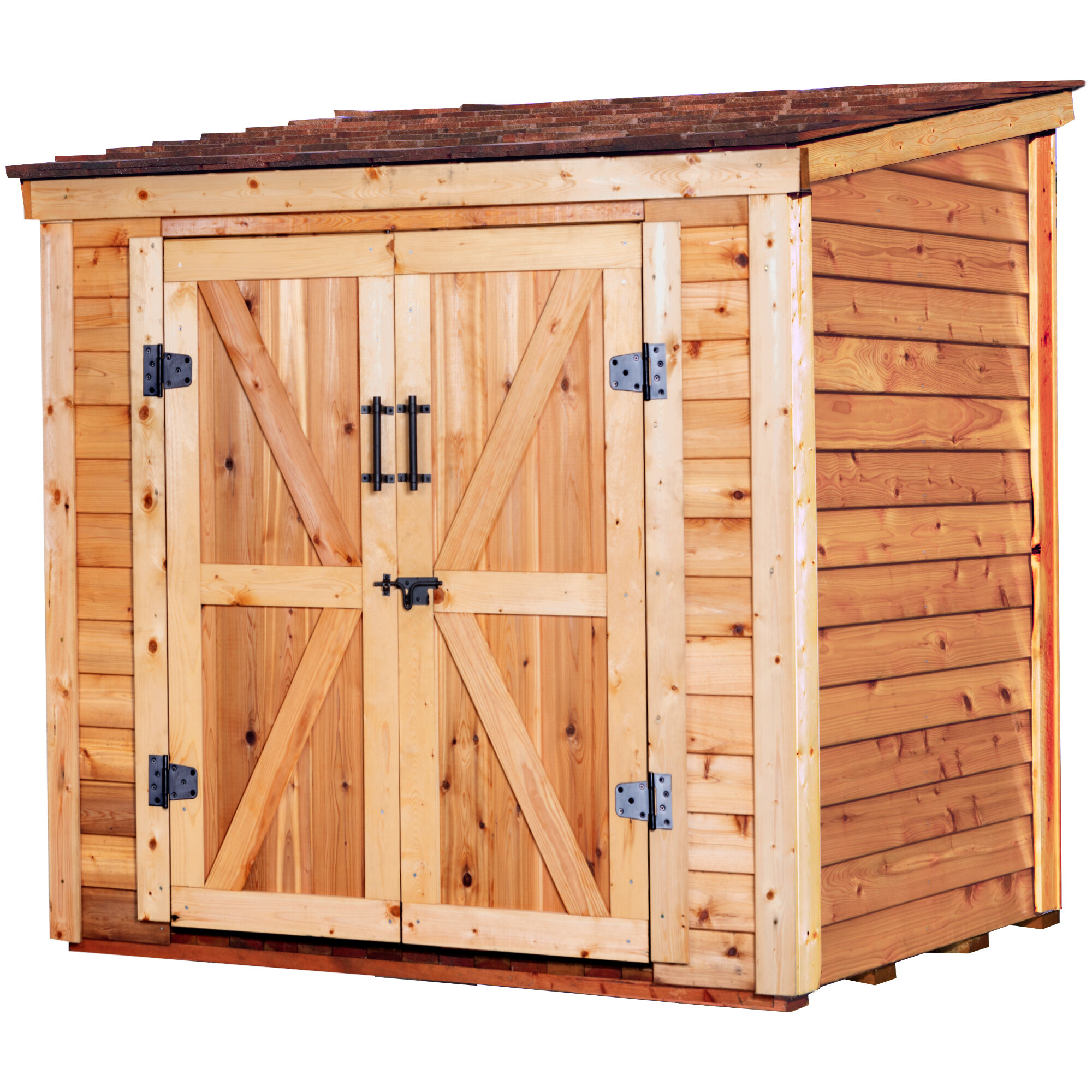Leisure Season 6 Ft W X 4 Ft D Solid Wood Lean To Storage Shed Reviews Wayfair