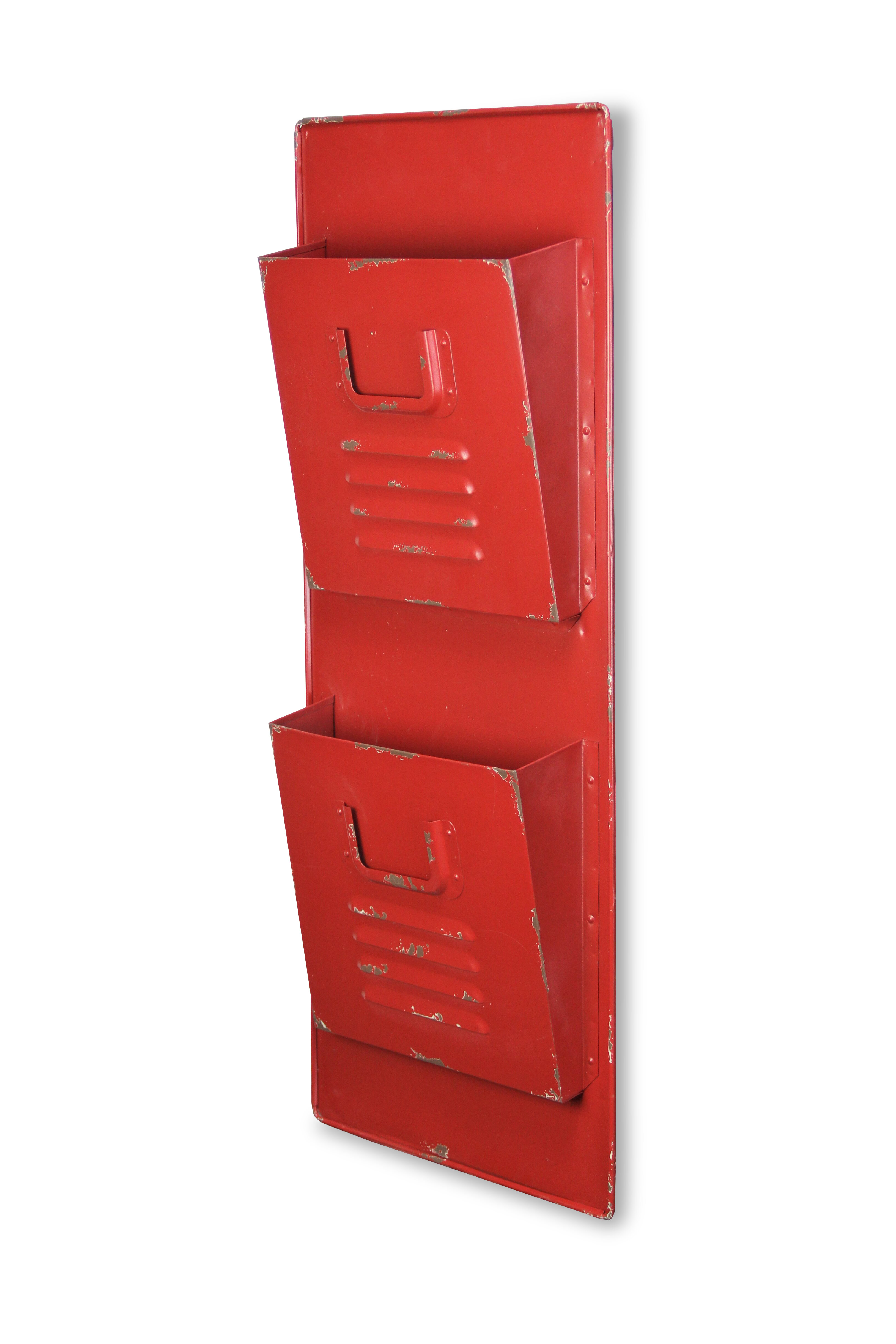 Cheungs 2 Tier File Pockets Wall Organizer With Mail Storage Reviews Wayfair