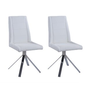 Fils Back Pyramid Base Upholstered Dining Chair (Set of 2) Orren Ellis