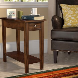 Welwyn Chairside Solid Wood End Table With Storage By Charlton Home