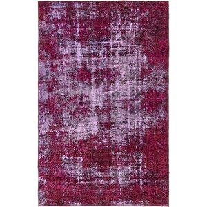 Sela Vintage Persian Hand Woven Wool Distressed Red Geometric Area Rug