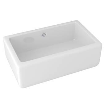 Shaws Single Bowl Fireclay 30 L X 18 W A Kitchen Sink