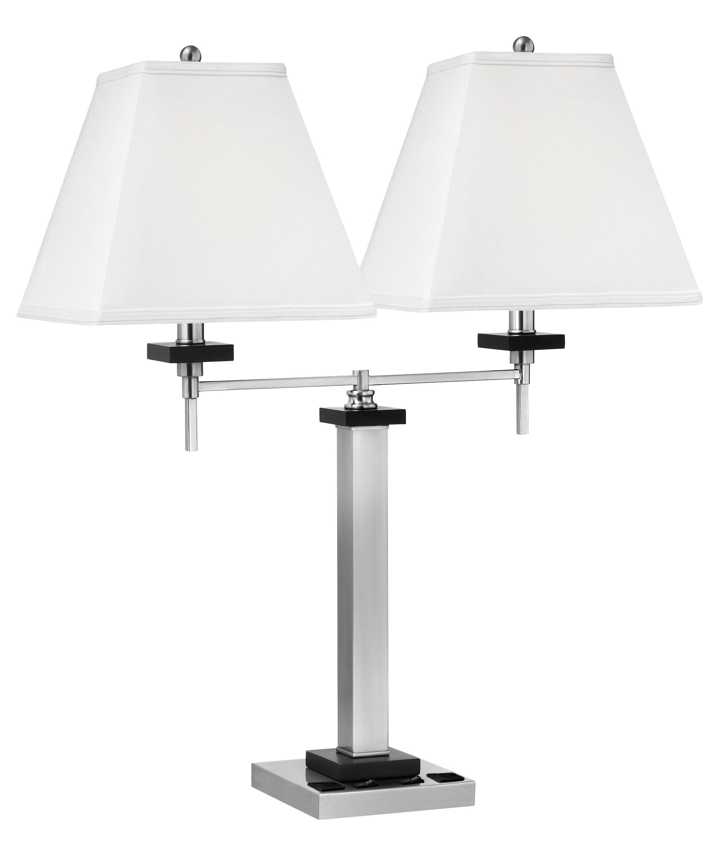 Medallion Lighting Twin Light Double Nightstand Lamp Wayfair
