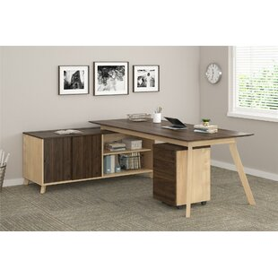 Ivy Bronx Barbosa Modern Executive 2 Piece L-Shape Desk Office Suite