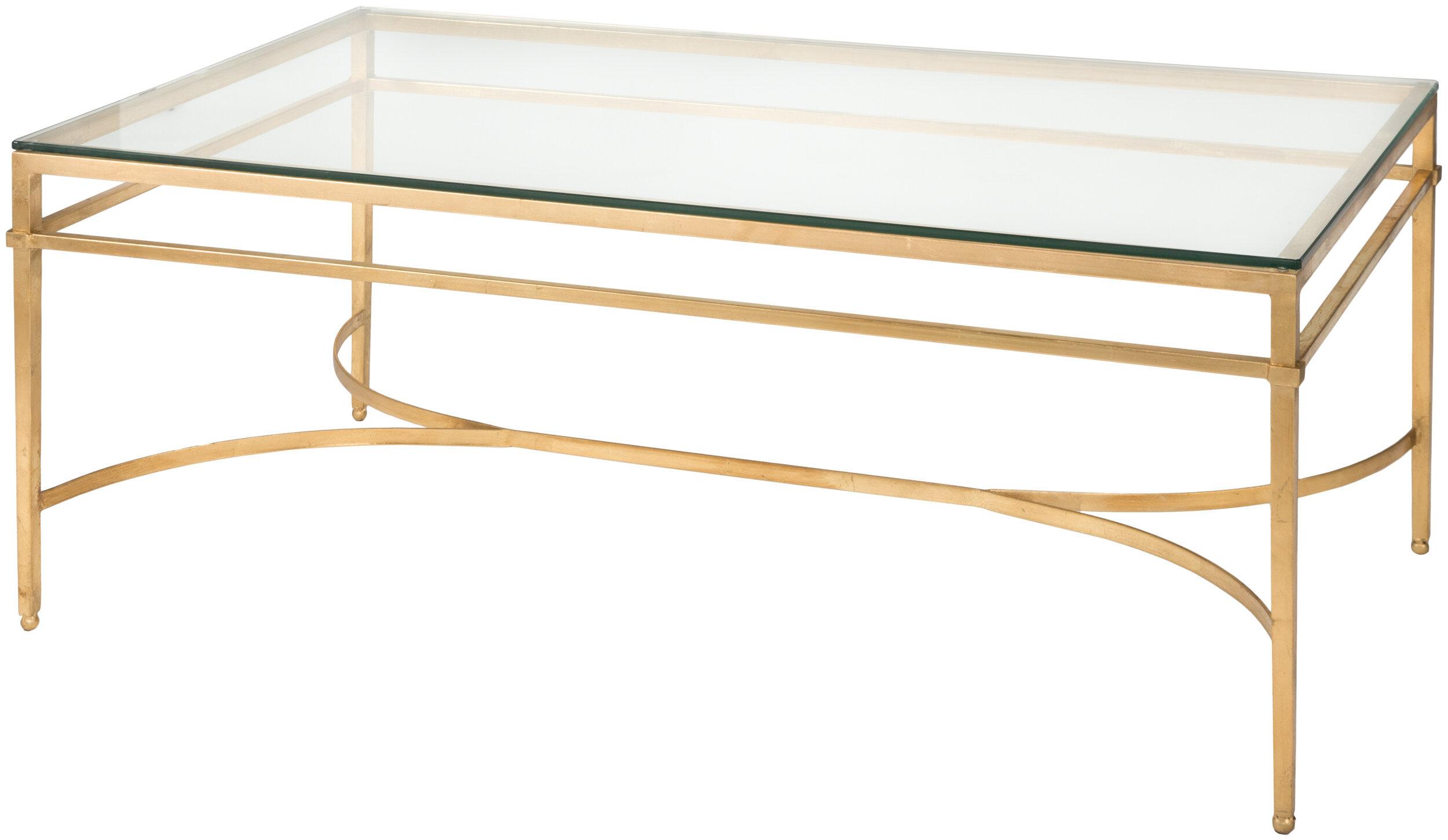Willa Arlo Interiors Reynaldo Rectangle Glass Top Coffee Table