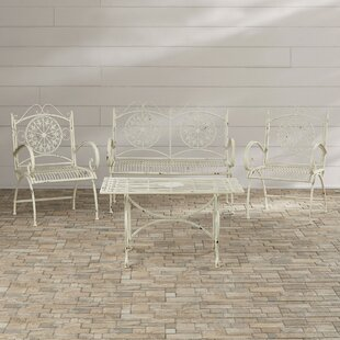 Lark Manor Lajoie 4 Piece Outdoor Seating Group
