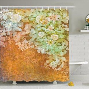 Vintage Watercolor Art Flowers Shower Curtain Set
