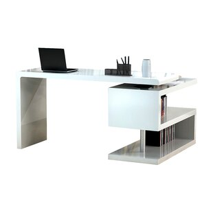 Office desk contemporary Modern Demetra Lshape Computer Desk Allmodern Modern Desks Allmodern