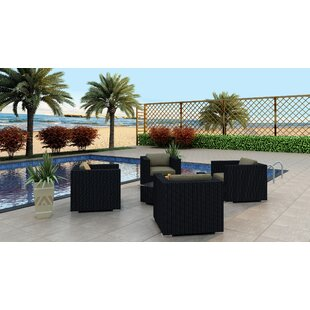Azariah 5 Piece Conversation Set with Cushions