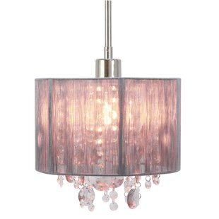 House of Hampton Andersen String Beaded 1-Light Drum Pendant