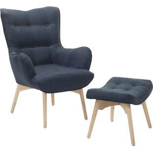 Ledo Armchair And Footstool By Corrigan Studio