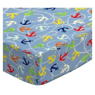 Nautical Blue Pack and Play Crib Sheet BySheetworld
