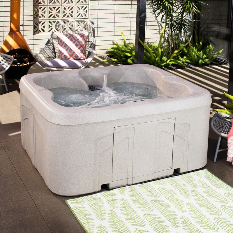 Lifesmart Rock Solid Simplicity Plug and Play 4 Person Hot Tub Spa review