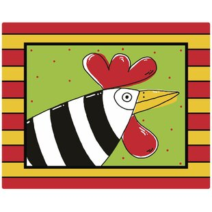 Randy Rooster by Deidre Mosher Non Slip Flexible Cutting Board