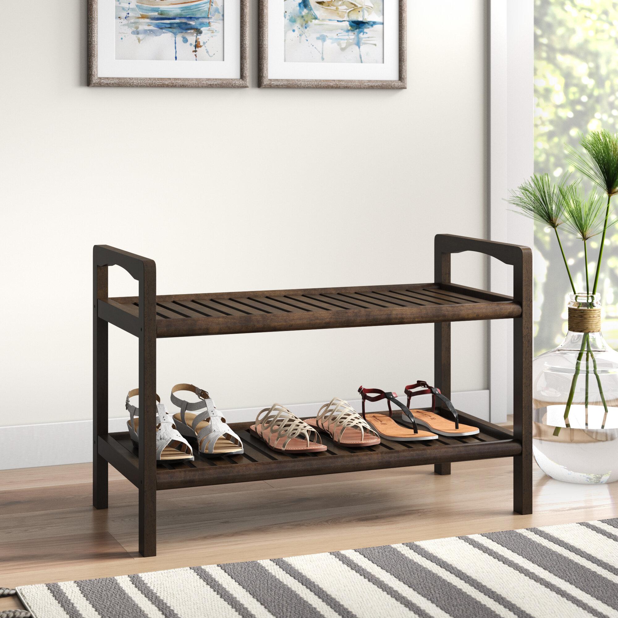 Breakwater Bay Hales Solid Wood Storage Bench Reviews Wayfair