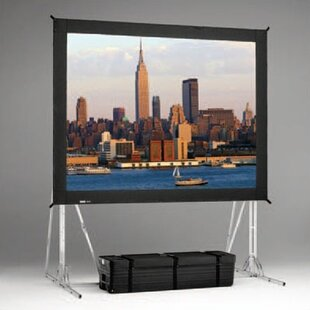 Fast Fold Black Portable Projection Screen