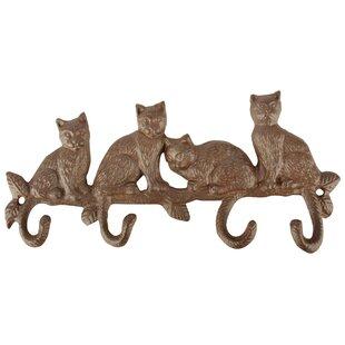 Jeffery Cat Wall Mounted Coat Rack By Brambly Cottage