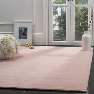 Aghancrossy Hand Loomed Light Pink Area Rug