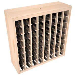 Karnes Pine Deluxe 64 Bottle Floor Wine Rack