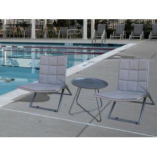 Ebern Designs Cespedes 3 Piece Conversation Set with Cushions