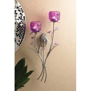 Fuchsia Bloom Iron Sconce