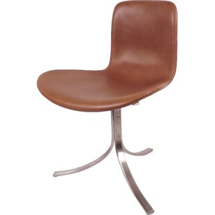 dCOR design Decker Genuine Leather Upholstered Dining Chair