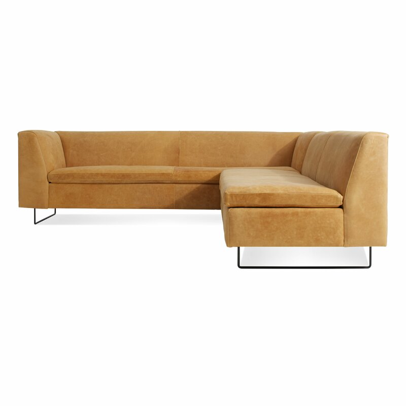 Bonnie and Clyde Leather Sectional Sofa