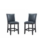 Eryn Upholstered Side Chair in Black (Set of 2) by Winston Porter
