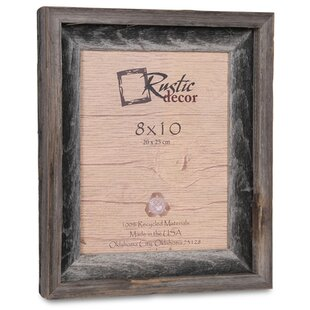 Waldrop Barn Wood Reclaimed Wood Signature Picture Frame
