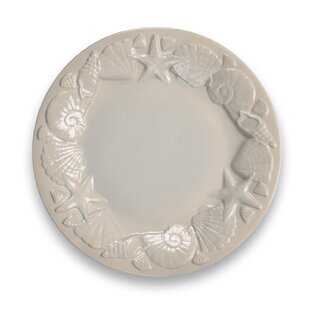 Cantrell Coral Reef Sea Shell Opal Melamine Dinner Plate (Set of 6)