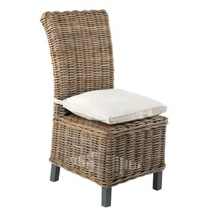 Vitiello Patio Dining Chair with Cushion (Set of 2)
