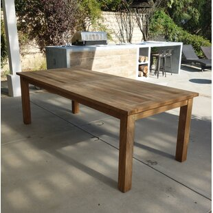 Khalid Solid Wood Dining Table Bay Isle Home
