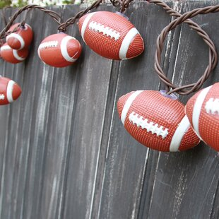 DEI 10-Light 8.5 ft. Football String Lights
