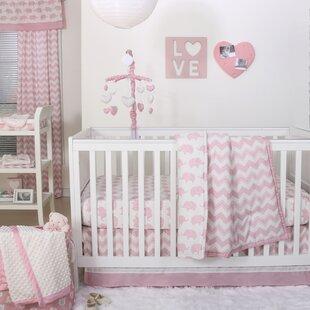 Find the perfect Ellie Chevron 4 Piece Crib Bedding Set ByThe Peanut Shell