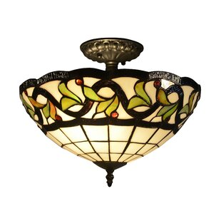 Petersen 2-Light Semi Flush Mount by Astoria Grand