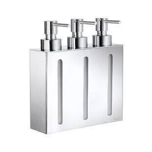 Outline Three Container Soap & Lotion Dispenser by Smedbo
